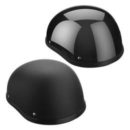 Wholesale Motorcycle Helmet Wholesale - Wholesale- 1Piece 57-62cm ABS Plastic Motorcycle Helm Motorcross Capacete Half Helmet for Harley Retro Matte Bright Black