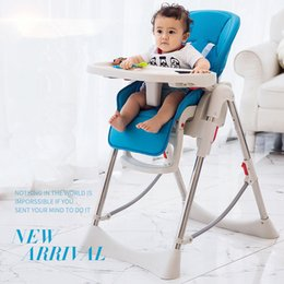 Wholesale Baby High Chair Green - 2017 Europe new baby chair luxury folding multifunctional portable baby eat chair children dinning chair green pink blue khaki free shipping