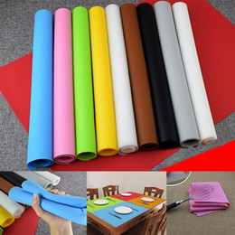 Wholesale large silicone mats - 60*40CM Extra Large Silicone Nonstick Baking Mat Pad Reusable Baking Kneading Mat Baking Pastry Tools Free Shiping WX9-50