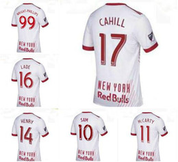 Wholesale Sam Shirt - Thai quality 2017 2018 America New York 17 18 BullS Men Jerseys Shirt Thierry Henry MCCARTY WRIGHT-PHILLIPS SAM USA Occupation League Red