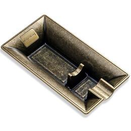 Wholesale Retro Ashtrays - New Style Large Size Retro Nostalgia Originality Personality Golden&Silvery Portable Travel Use Cigar Ashtray One Holder