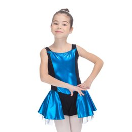 Wholesale Metallic Costume Dress - Modern Dance Dress Metallic Tank Leotard Tutus Costume for Ladies and Girls Practice Performance Full Sizes 6 Colors Available