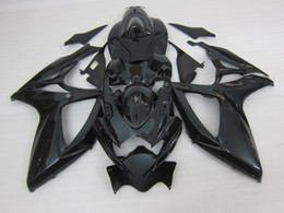 Wholesale Fairing Kits - 3 gift New Hot ABS motorcycle Fairing kits 100% Fit For SUZUKI GSXR 600 750 K6 2006 2007 GSXR600 GSXR750 06 07 R600 R750 Black
