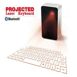Wholesale Bluetooth Laser Virtual Keyboard Iphone - Portable Laser Projection Keyboard Wireless Virtual Bluetooth Laser Keyboards with Mouse & USB for Android iPhone Phone Tablet Laptop