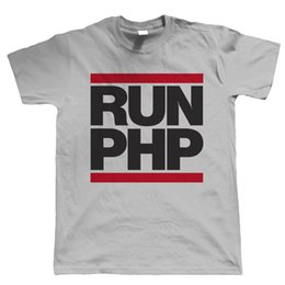 Wholesale Web Brands - Runer PHP, Mens Coder Web Developer T Shirt Animal Fashion Men T-Shirts Good Quality Brand Cotton Shirt Summer Style Cool Shirts