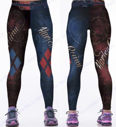 2019 collant Red Harleen Quinzel Rugby Baseball Training Pantaloni Harley Quin Yoga Workout Pants Blu Running Leggings Women Fitness Tights