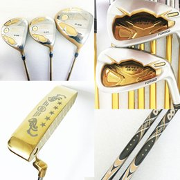 Wholesale Wood Set Golf Club - New Golf clubs Honma S-05 4star Complete Set of set Golf driver+wood+irons+putter Graphite Golf shaft and Clubs wood headcover Free Shipping