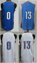 Wholesale Bruins Throwback - 2017-18 New 0 Russell Westbrook Jersey UCLA Bruins College Throwback 13 Paul George 7 Carmelo Anthony Jerseys Blue White Orange Stitched