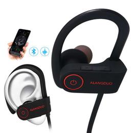 Мода беспроводные наушники Bluetooth для Iphone 7 6 5 Спортивные наушники с микрофоном поддержка шумоподавления Bluetooth наушники от