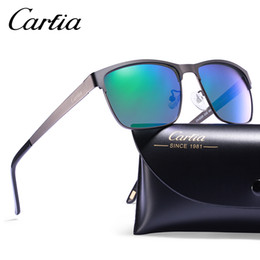 Wholesale White Glasses Frames For Women - Carfia 5225 polarized sunglasses metal frame resin UV400 glasses sunglasses for men drive sun glasses with free case 58mm