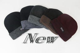 Wholesale Knitted Girls Cloche - Autumn and winter cap men and women hats Korean version of the wave of wool hat thicker knit hat Baotou unisex young hats