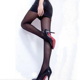 Wholesale Ladies Stockings Pantyhose Black - Wholesale-Stylish Women Sexy Full Foot Thin Sheer Tights Stocking Lady\'s Pantyhose Panties FM01