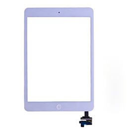 Wholesale Touch Screen Panel Buttons - 100% New Touch Screen Glass Panel with Digitizer with ic Connector Buttons for iPad Mini 2
