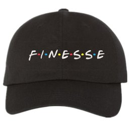 Wholesale Vintage Style Art - 2017 new FINESSE Hat (slide buckle) fashion style vintage art dad cap seasons caps meme man women baseball cap