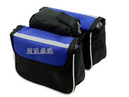 Wholesale Double Pannier Bag - Best price Cycling Bicycle Bike Top Frame Front Pannier Saddle Tube Bag Double Pouch 50pcs