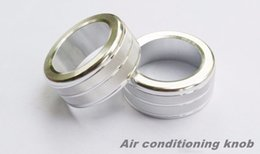 Wholesale Aluminium alloy Auto Air conditioning Volume knob rings trim covers Car styling D stickers for BMW series E90 i i