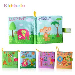 Wholesale Soft Cloth Books For Infants - Wholesale- Baby Toys Soft Rattles Mobiles Early Learning Education Infant Book Coloring Bebe Stroller Toy For Newborn Baby Toys 0-12 Months