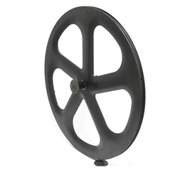Wholesale Rear Wheel Tracking - Factory outlet Full Carbon five Spokes Track Bicycle Wheel 5 spoke wheelset fixed gear carbon five spokes wheels 700C clincher tubular