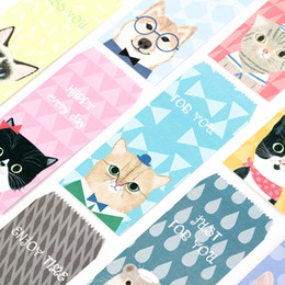 Wholesale Letter Stationary - Wholesale- 5Pcs pack New Novelty Meow Cat Cute Dog Envelope Message Card Letter Stationary Storage Paper Gift M0385