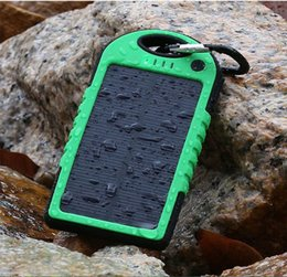 Wholesale Mobile Battery Powered Solar - Direct selling solar charger 5000mAh USB dual resistance portable solar power 5000mAh Ravel intelligent mobile phone external battery