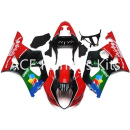 Wholesale Gsxr Black Yellow - 3 free gifts New Suzuki GSXR1000 K3 03 04 GSXR 1000 K3 2003 2004 Injection ABS Plastic Motorcycle Fairing The Cool Red black green style