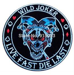 Wholesale Batman Motorcycle - Wild Joker Batman Suicide Squad Harley Quinn patch Badge Movie cosplay Motorcycle Biker Vest Badge Halloween Costume