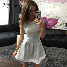 Wholesale Russian Women Clothing - Wholesale- Casual dresses Russian style dress women 2017 plus size women clothing women's dress Patchwork O-Neck dresses Mini
