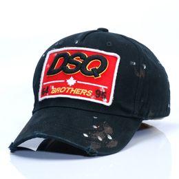 Wholesale Ladies Fashion Prints - 2017 new DSQ baseball cap men and European fashion 100% cotton casual sport hat ladies sun hat 3 colors