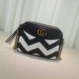 Wholesale Leather Messenger Bag Pattern - Newest Style Famous Brands Women Handbags High Quality Genuine Leather Geometric Pattern Chain Shoulder Bags Flap Messenger Bags