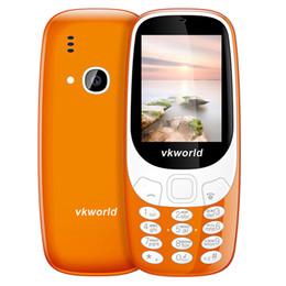 Wholesale 3d Dual Camera - VKworld Z3310 Older 3D Screen Cell Phone 2.4 inch 1450mAh 2.0MP GSM 2G Mobile Phone Dual SIM LED Light Bluetooth Loud Speaker Phone