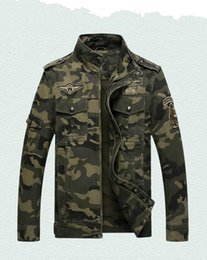 Wholesale flight jacket pockets - Men's Jacket Autumn And Winter Men's camouflage jacket flight military pilot ma1 bomber one men's Clothing