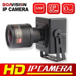 Wholesale Mini Lens Varifocal - 1.0MP Mini IP Camera ONVIF 2.8-12mm Manual Varifocal 4X Zoom Lens Security Surveillance CCTV Camera IP 720P Mobile View