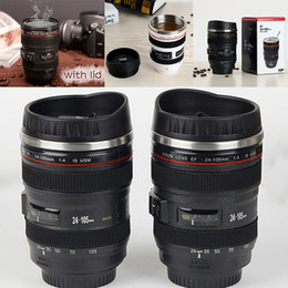 Wholesale Stainless Bottle Tea - Creative Camera Lens Coffee Mug 400ml Stainless Steel Liner Tea Cup 5 Generation Tumbler Travel Mug SLR Lens Bottle Novelty Gifts WX-C31