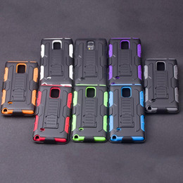 Wholesale Model Armor - For Samsung Universal Models Cellphone Case Anti-drop Silicone+PC Armor Hard Case Non-slip Protective Cover with Opp Package