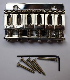 65 мм хром 6 седло Hardtail гитара мост верхней загрузкой идеально подходит для электрогитары Бесплатная доставка от