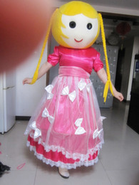 Wholesale Girl Princess Mascot Costumes - Adult Size Princess Mascot Costume Beauty Girl Halloween Chirastmas Party Fancy Dress Free Shipping Custom Party Dress