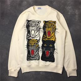 Wholesale Cat Sweater Xl - 2018 hot sell Top fashion brand tag hoodie men cat cartoon printing sweater hoodies Men Women High Quality casual printed sweatshirt Tops
