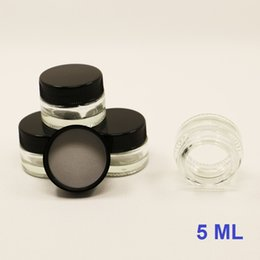 Wholesale Small Plastic Jars Lids - Small lidded glass jars 5ML cosmetic container pyrex glass jar tempered glass storage dab wax oil concentrate container with plastic lid