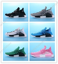 Wholesale Clover Fabric - 2017 new ship clover NMD HumanRace human race black men and women Running Shoes For Men Sports shoes Sneakers Drop free shipping Size 36-45