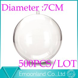 "acrylic balls wedding Coupons - Wholesale-Wedding gift ball Acrylic Sphere & Christmas tree ball & Plastic Ball - Transparent & clear 2-3 4"" (7cm) Diameter (500pcs)"