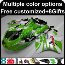 Wholesale 93 Kawasaki Ninja Fairings - 23colors+8Gifts red white motorcycle cowl for Kawasaki ZX11R ZZR1100 92-01 92 93 94 95 96 97 ZZR1100 98 99 00 01 02 ABS Plastic Fairing