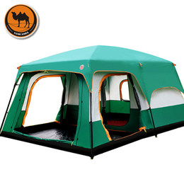 Wholesale Big Two Game - Wholesale- The camel outdoor 6 7 8 9 10-12 people camping 4season tent outing two bedroom tent big space high quality camping tent