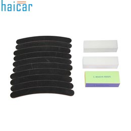 Wholesale Black Nail Acrylic Powder - Wholesale- 1set Black Primer Acrylic Powder Nail Art Buffer Block Sanding File Tools Tips Kits New Arrival 17F17