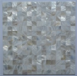 Wholesale Pearl Tile Backsplash - Tight seamed natural color white shell tiles, mother of Pearl Shell Kitchen Backsplash Bathroom wall decoration mosaic tiles,LSBK2004 5 6