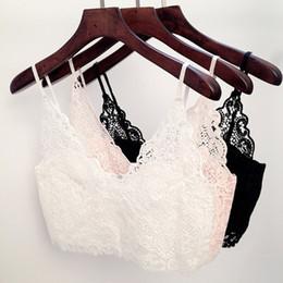 Wholesale Plus Size Cami Lace - S-XL Plus size Women Lace Cropped Top Crochet Bralette Bralet Bra Bustier Crop Camisole Cami Vest Tops
