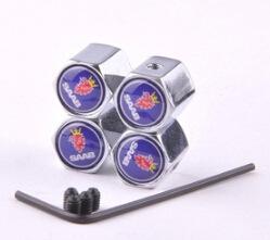 Wholesale Dust Valve Covers - 4pcs set Car Accessories Car Wheel Tire Valves Tyre Stem Air Caps Dust Cover For SAAB logo 9-3 9-5 93 9000 900 9-7 95