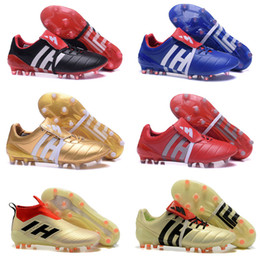 online store 3e90c 6b817 2017 Predator Mania ACE 17+ Purecontrol Champagne FG Soccer Boots Football  Boots WhiteCore Mens Football Shoes Soccer Cleats Shoe
