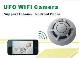 Wholesale Wireless Smoke Detector Cameras - UFO WiFi Wireless IP Camera Spy Smoke Detector Surveillance Camera Video Recorder For iPhone Android Smart Phone
