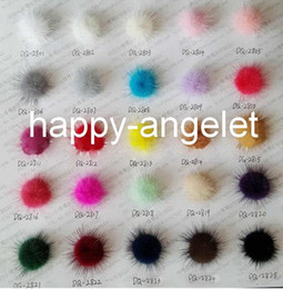 Wholesale Clothes For Ball - 100 pcs in a color 28mm Mink Fur Craft pompon ball pom pom pompoms for clothing shoes Hairpins hair barrettes ornament accessories GR101