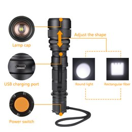 Wholesale Lampe High Power Led - High Power XML-L2 LED Torch 5 switch modes Flashlight Zoomable Torch Lights Lampe Torche Linterna for outdoor sport